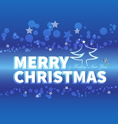 Christmas blue card vector