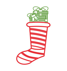 christmas boot vector image