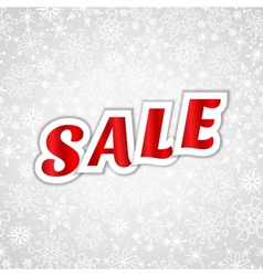 Christmas sale message vector image