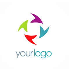 Circle arrow color logo vector