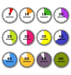 Clock time vector image vector image