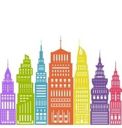 Colorful Modern Big City vector