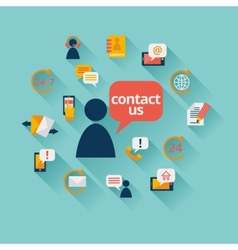 Contact us background vector image