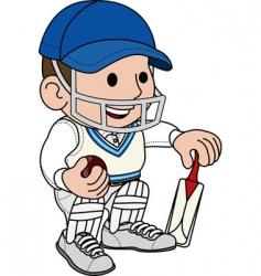 cricketer batsman vector image