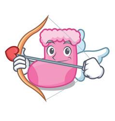 cupid sock character cartoon style vector image
