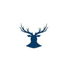 Deer logo template vector