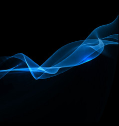 electric blue wave background vector image