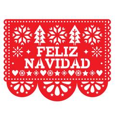 Feliz navidad papel picado design mexican vector
