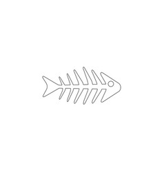 fishbone flat icon vector image