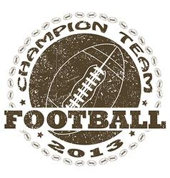 Football label vector