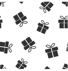 gift box seamless pattern background business vector image