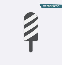 gray ice cream icon isolated on background modern vector image