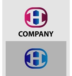 H Letter Logo Icon Design template Element vector image