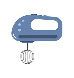 hand mixer icon in flat style isolated vector image