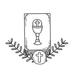 Holy bible book icon vector
