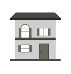 house or home two story icon image vector image