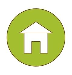 House pictogram button icon image vector
