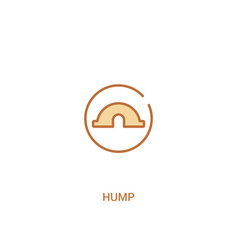 Hump concept 2 colored icon simple line element vector