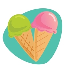 icon of a two Ice-Cream vector image