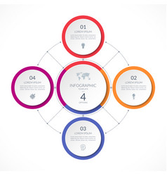 Infographic circle with 4 options vector