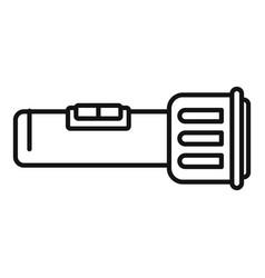 Investigator flashlight icon outline style vector