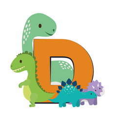 Isolated dinosaurs toy design vector