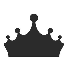 king crown black icon medieval gem decoration vector image