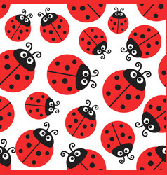 ladybug pattern seamless wrapping paper vector image