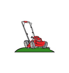 Lawnmower Front Isolated Cartoon vector
