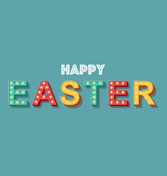 light sign of easter concept vector image