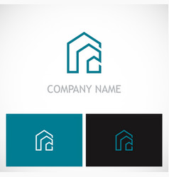 line building house logo vector image