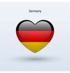Love Germany symbol Heart flag icon vector