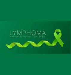 Lymphoma awareness calligraphy poster design vector