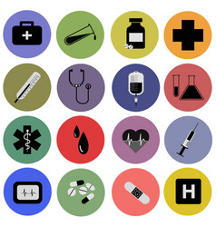 medical tools icons vector image