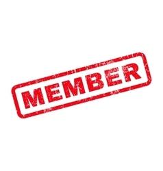 Member Rubber Stamp vector