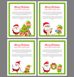 merry christmas helper santa vector image vector image