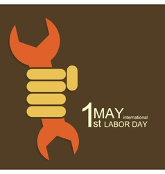 modern 1 may international labour day vector image
