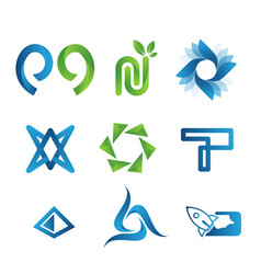 modern logo collection vector image