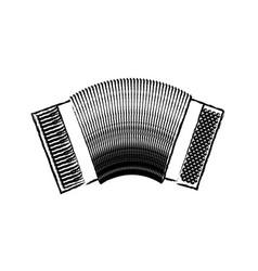 Monochrome blurred silhouette of accordion icon vector