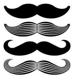 Mustache vintage black icons vector