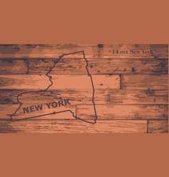 New york map brand vector