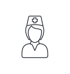 nurse avatar doctor thin line icon linear vector image