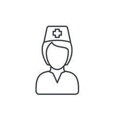 Nurse avatar doctor thin line icon linear vector