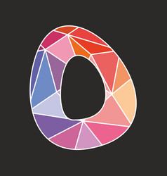 O low poly wrapping surface pastel colorful vector