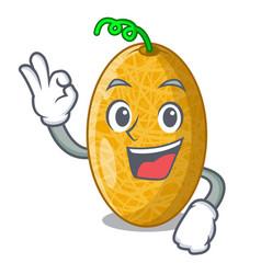 Okay ripe honeydew melon in market cartoon vector