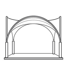 Outline folding tent marquee pavilion vector