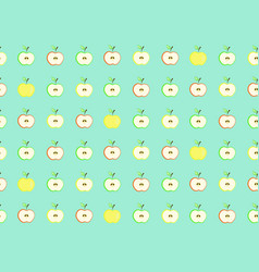 pattern with cute colorful half apples vector image