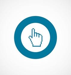 pointer pixel cursor bold blue border circle icon vector image