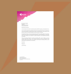 polygonal letterhead with mesh effect vector image