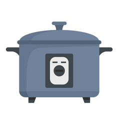 pressure cooker icon flat style vector image